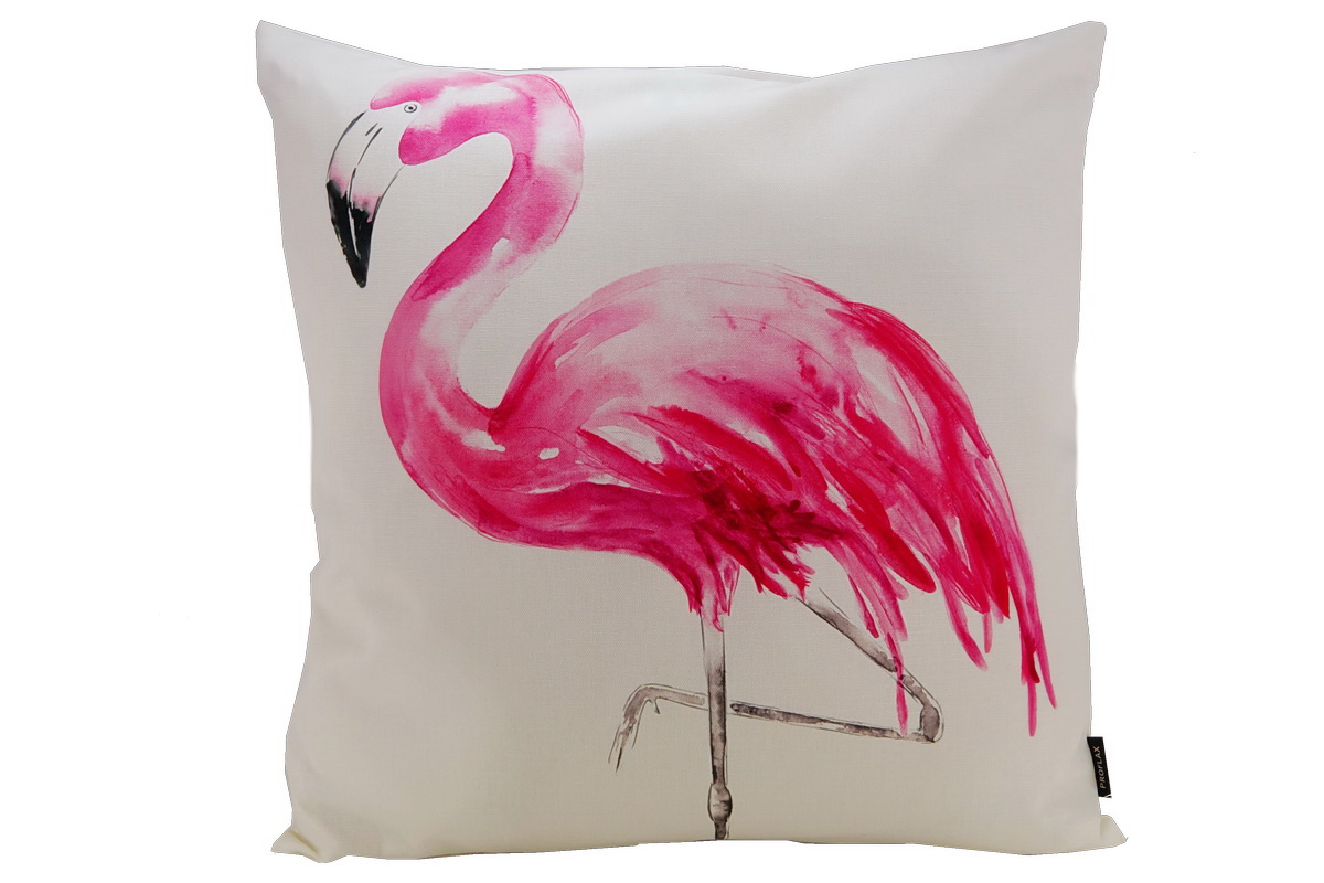 Annes table pinco impression num rique flamant rose - Coussin flamant rose ...